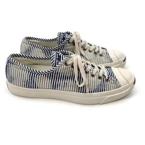 Converse Jack Purcell Salt Wash Striped Sneakers